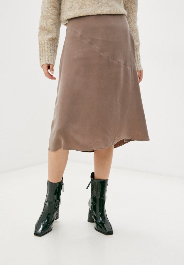 женская юбка french connection, бежевая