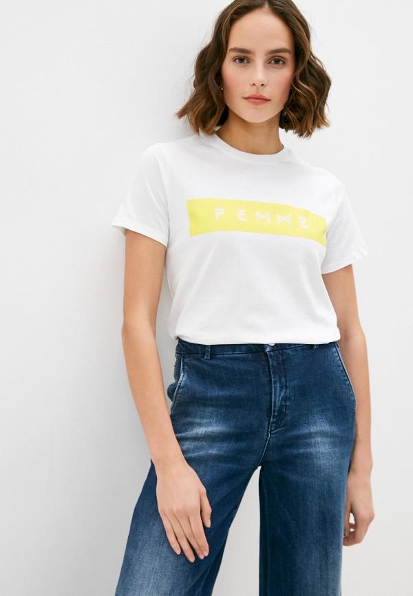 женская футболка french connection, белая