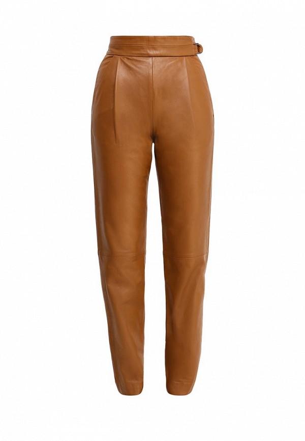 женские повседневные брюки french connection, коричневые