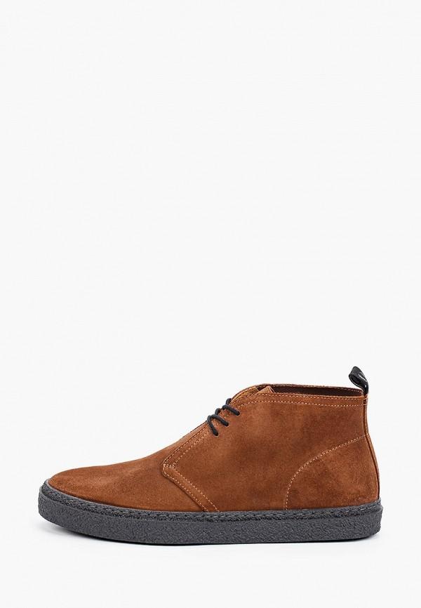 мужские ботинки fred perry, коричневые