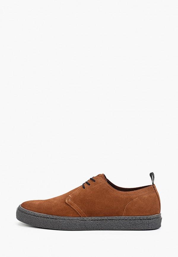 мужские низкие ботинки fred perry, коричневые