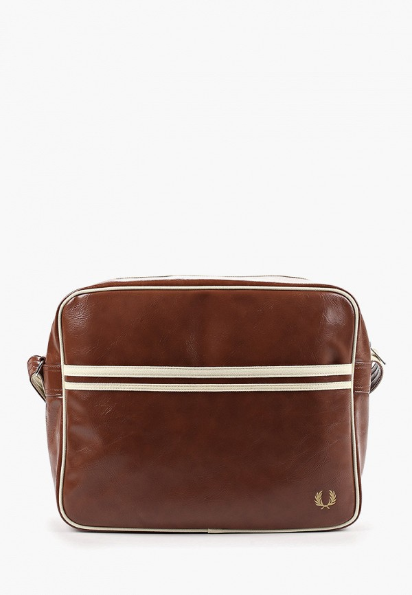 мужская сумка fred perry, коричневая