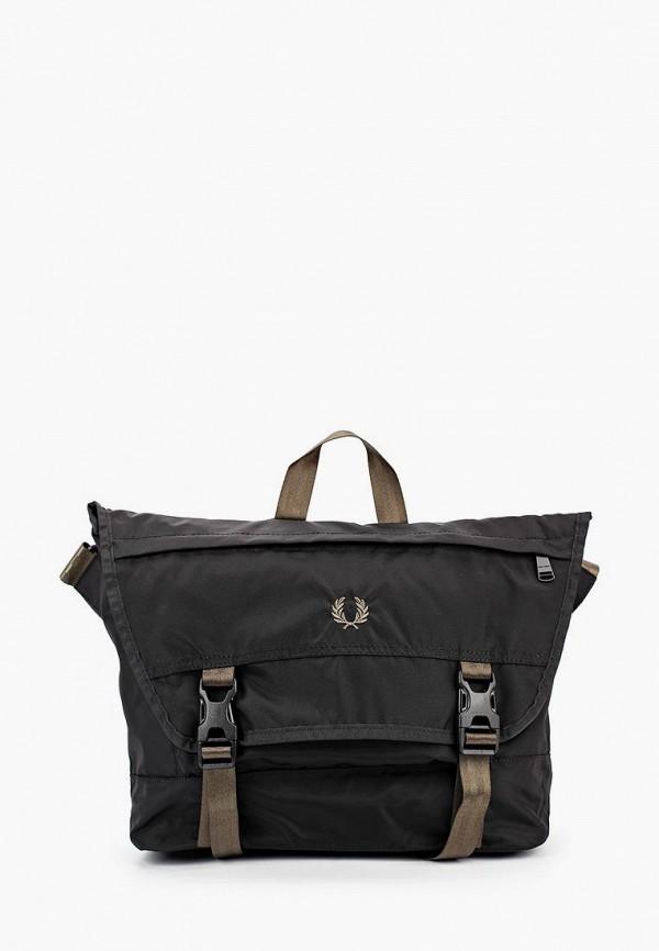 мужская сумка через плечо fred perry, черная