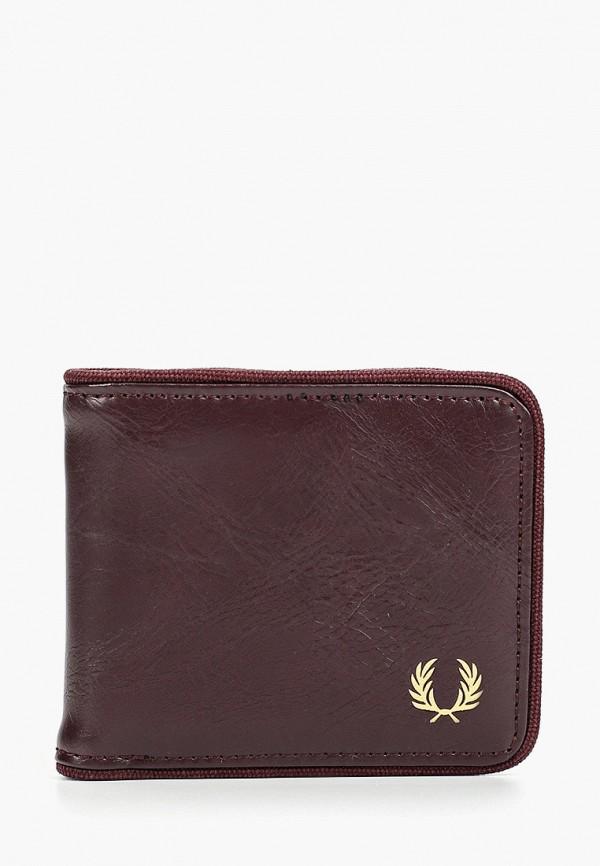 мужской кошелёк fred perry, бордовый