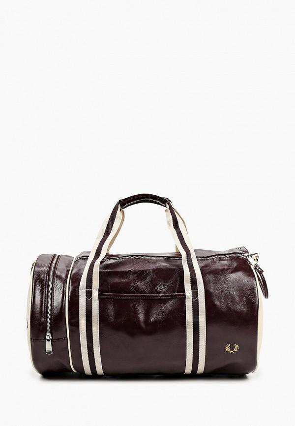 мужская спортивные сумка fred perry, коричневая