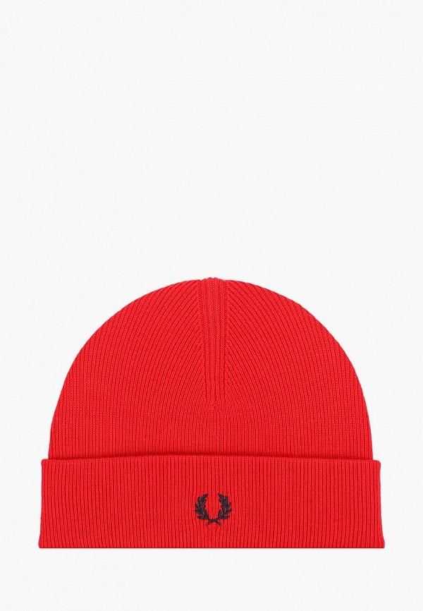 мужская шапка fred perry, красная