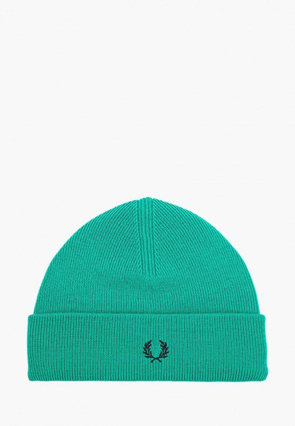мужская шапка fred perry, зеленая