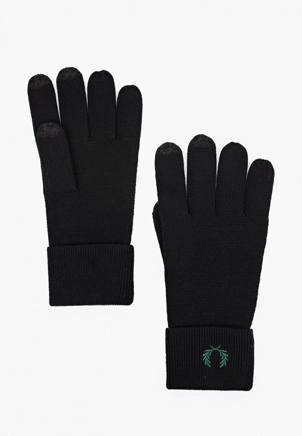 мужские текстильные перчатки fred perry, черные