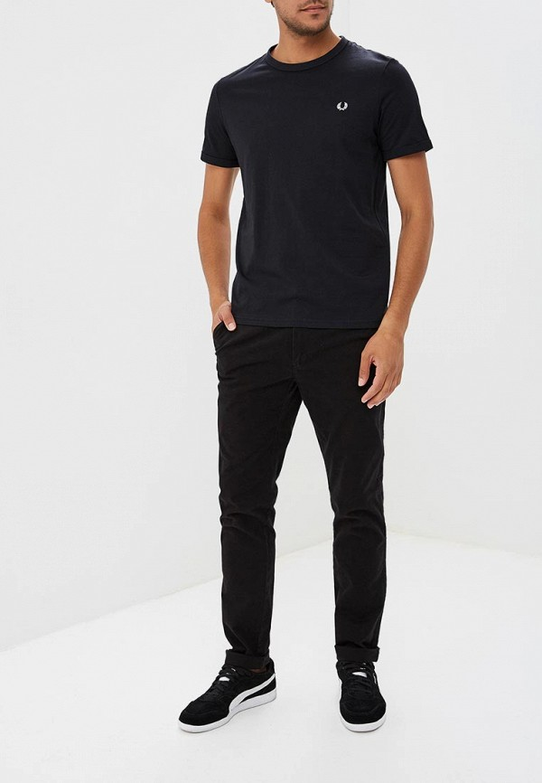 Фото 2 - мужскую футболку Fred Perry черного цвета