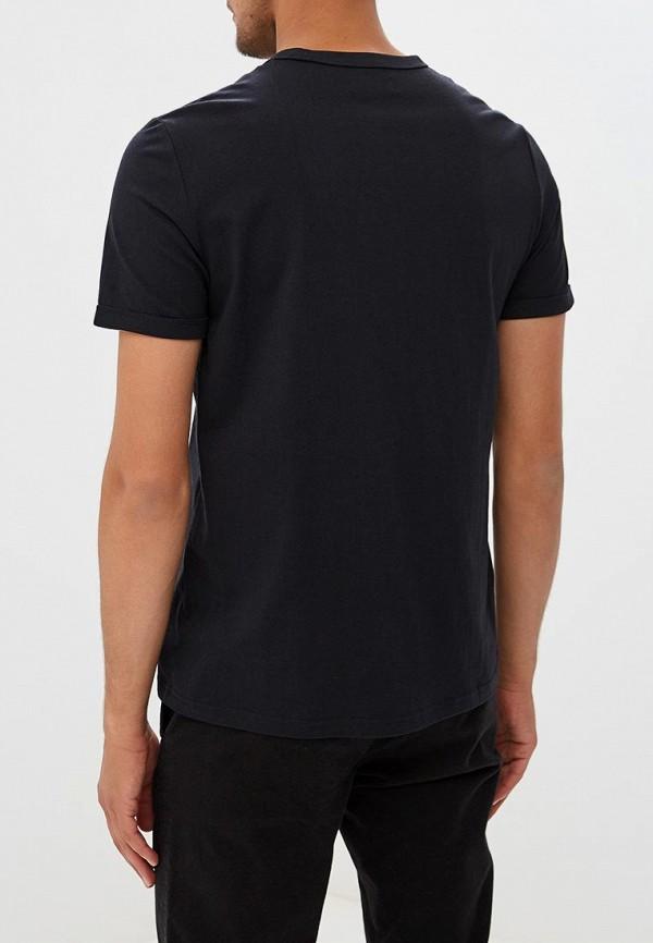 Фото 3 - мужскую футболку Fred Perry черного цвета