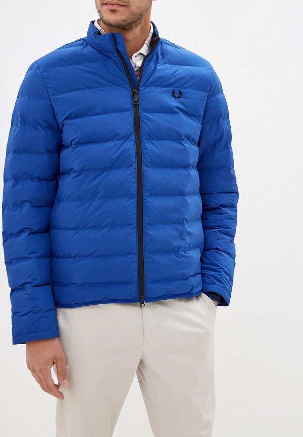 мужская куртка fred perry, синяя
