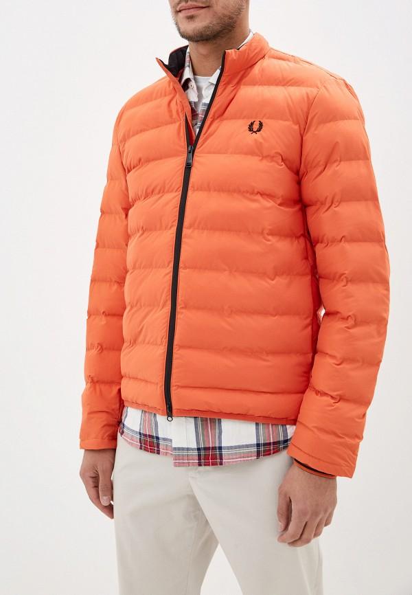 мужская куртка fred perry, оранжевая