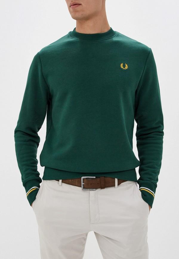мужской свитшот fred perry, зеленый
