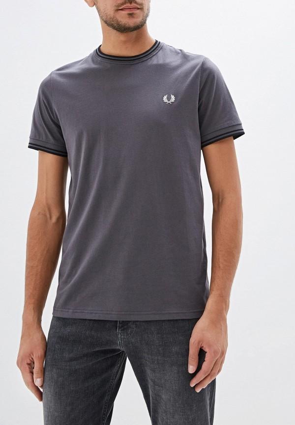 мужская футболка с коротким рукавом fred perry, серая
