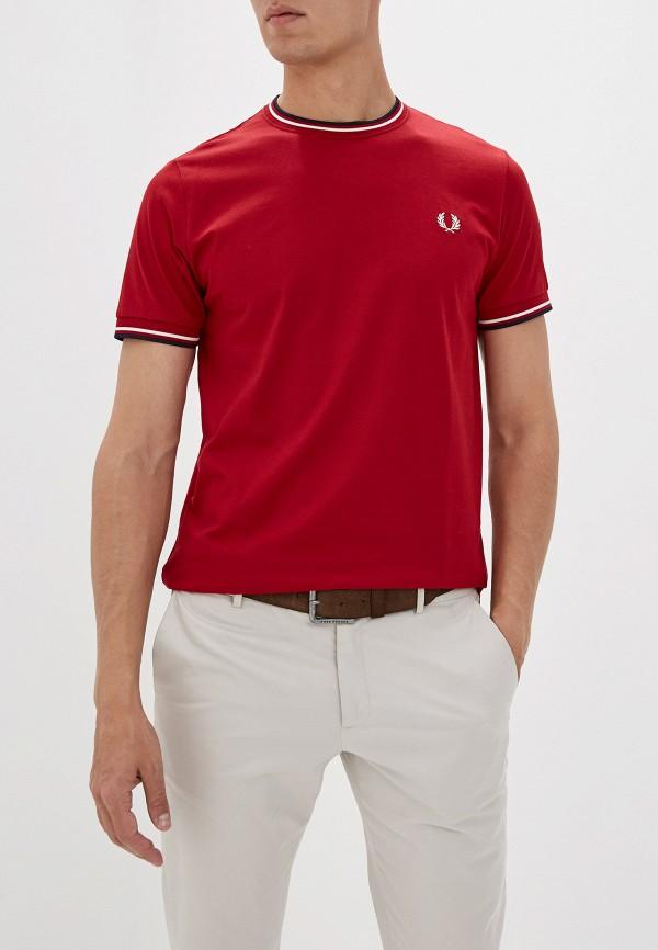 мужская футболка с коротким рукавом fred perry, красная