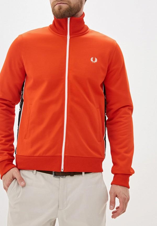 мужская олимпийка fred perry, оранжевая