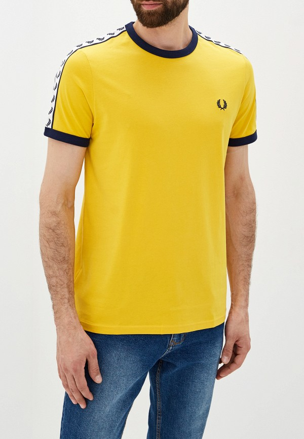 мужская футболка fred perry, желтая
