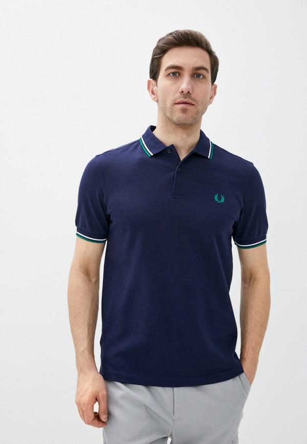 мужское поло fred perry, синее