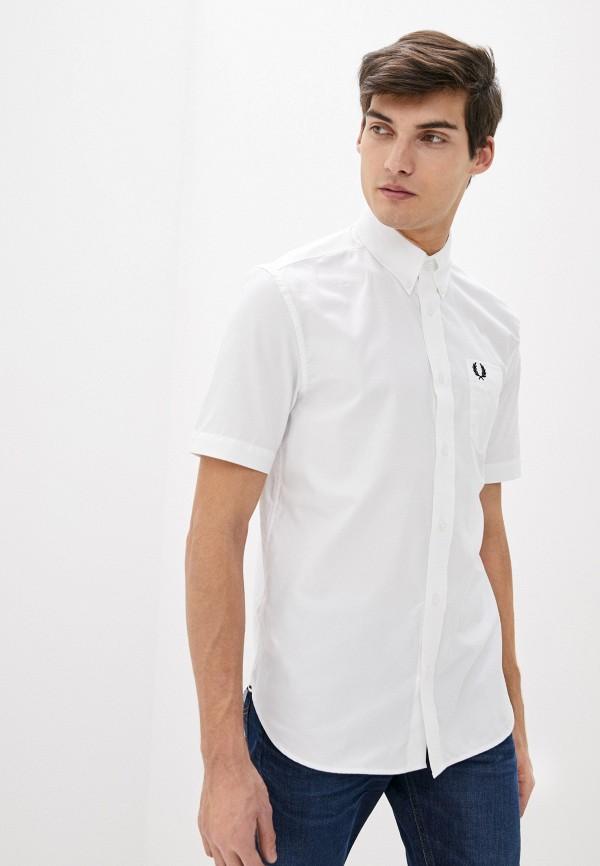 мужская рубашка с коротким рукавом fred perry, белая