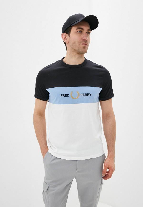 мужская футболка с коротким рукавом fred perry, разноцветная