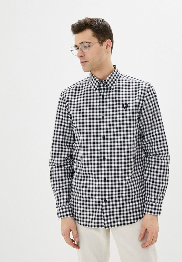мужская рубашка с длинным рукавом fred perry, серая