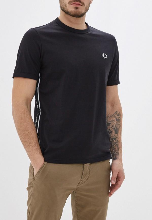 мужская футболка с коротким рукавом fred perry, черная
