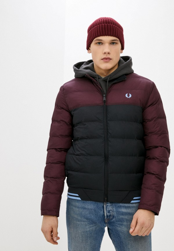 мужская куртка fred perry, бордовая