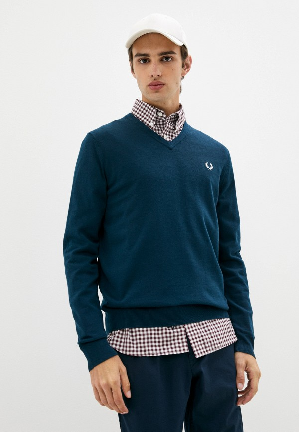 мужской пуловер fred perry, бирюзовый