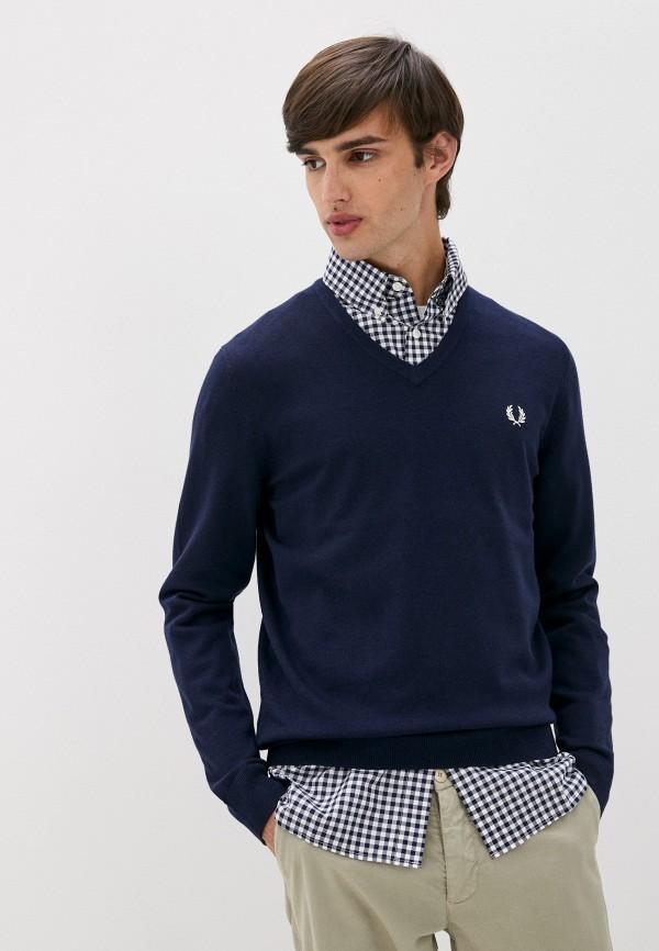 мужской пуловер fred perry, синий