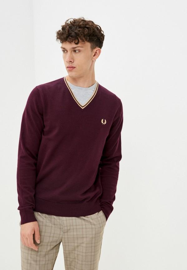 мужской пуловер fred perry, бордовый
