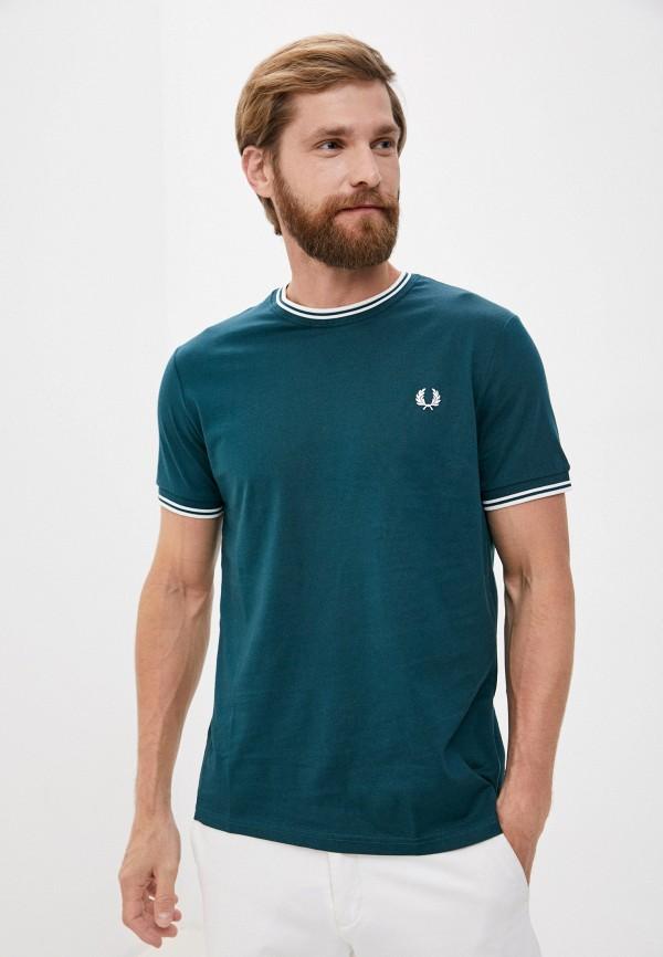 мужская футболка fred perry, зеленая