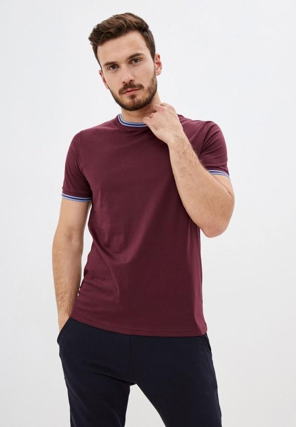 мужская футболка с коротким рукавом fred perry, бордовая