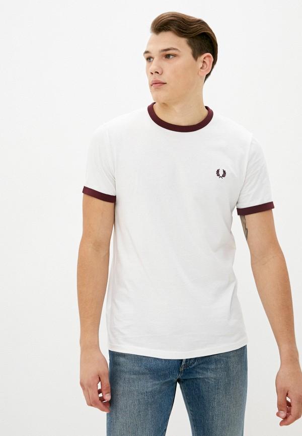 мужская футболка с коротким рукавом fred perry, белая