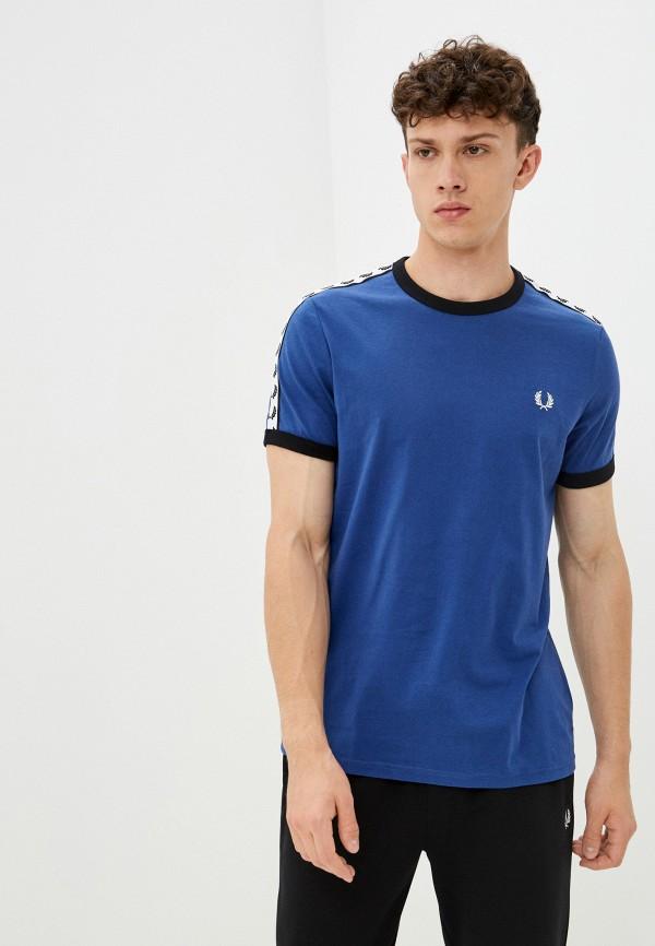 мужская футболка с коротким рукавом fred perry, синяя