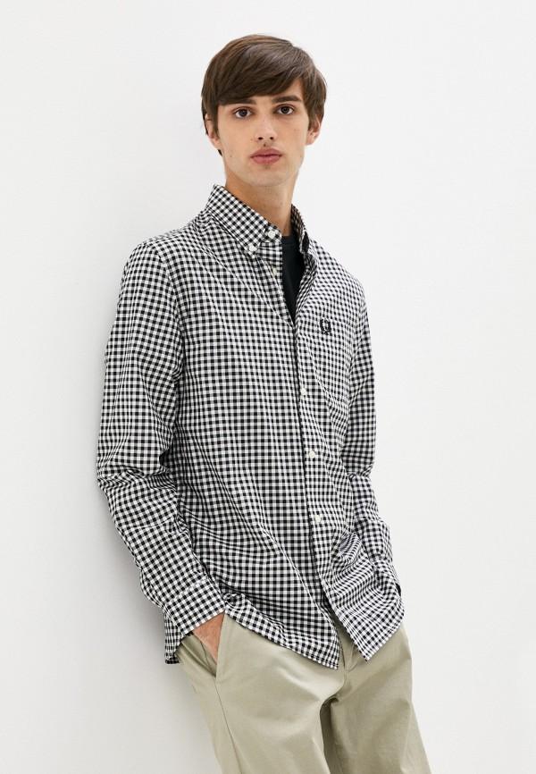 мужская рубашка с длинным рукавом fred perry, черная