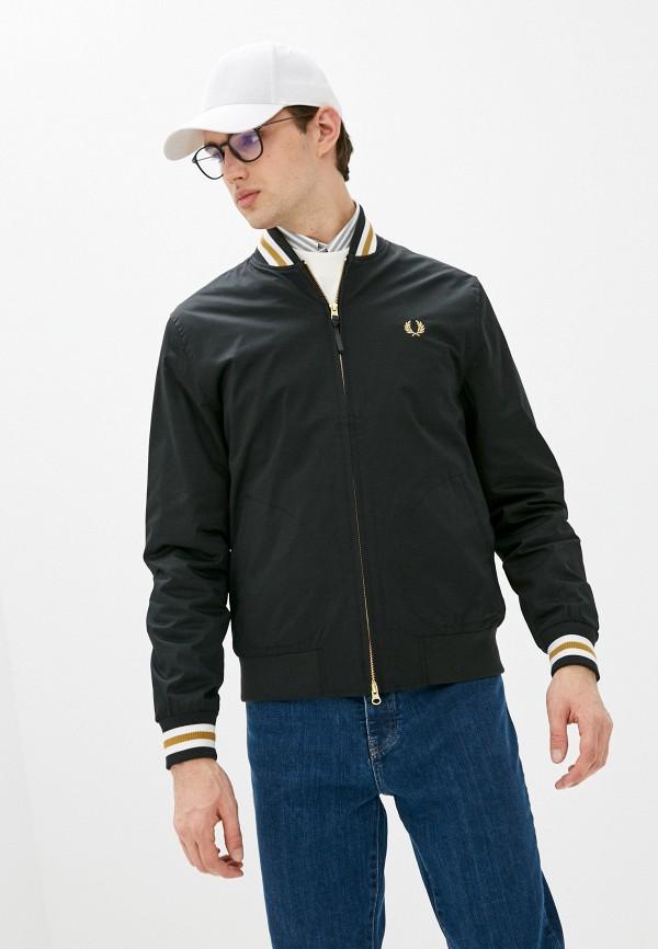мужская куртка бомбер fred perry, черная
