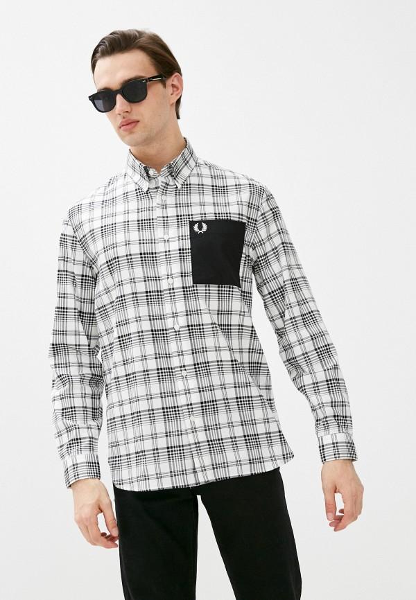 мужская рубашка с длинным рукавом fred perry, белая