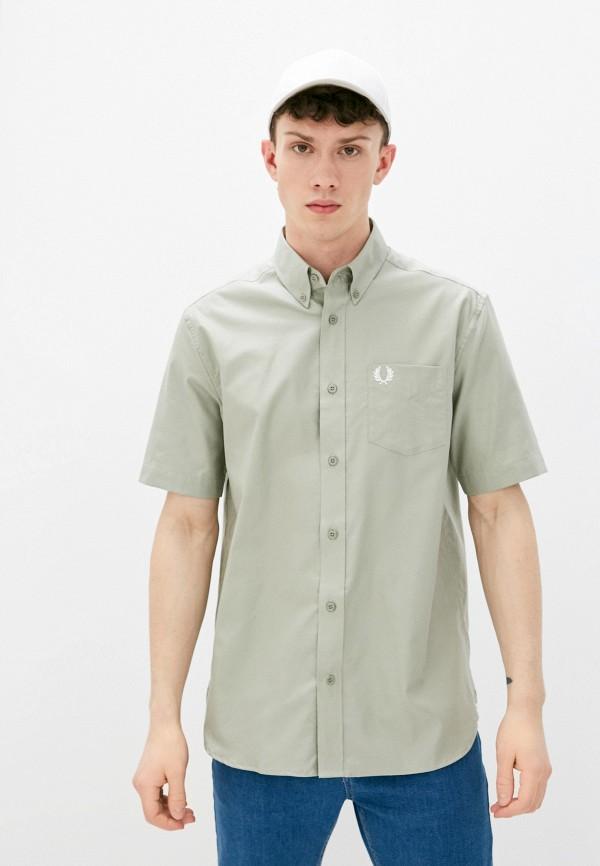 мужская рубашка с коротким рукавом fred perry, хаки
