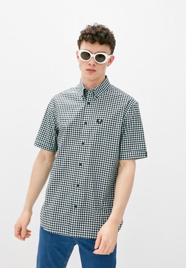 мужская рубашка с коротким рукавом fred perry, разноцветная