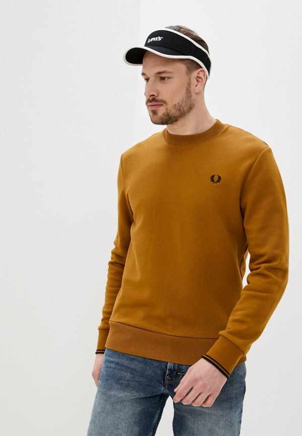 мужской свитшот fred perry, коричневый