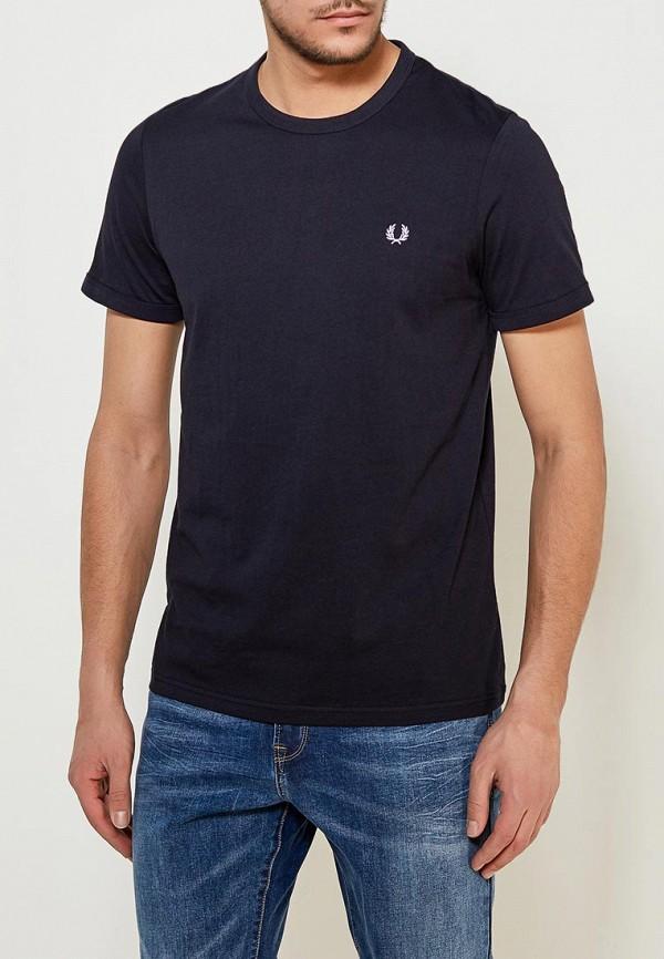 мужская футболка fred perry, синяя