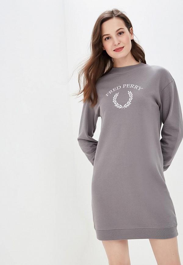 женское платье fred perry, серое