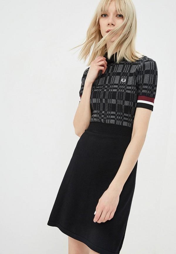 женское платье fred perry, черное