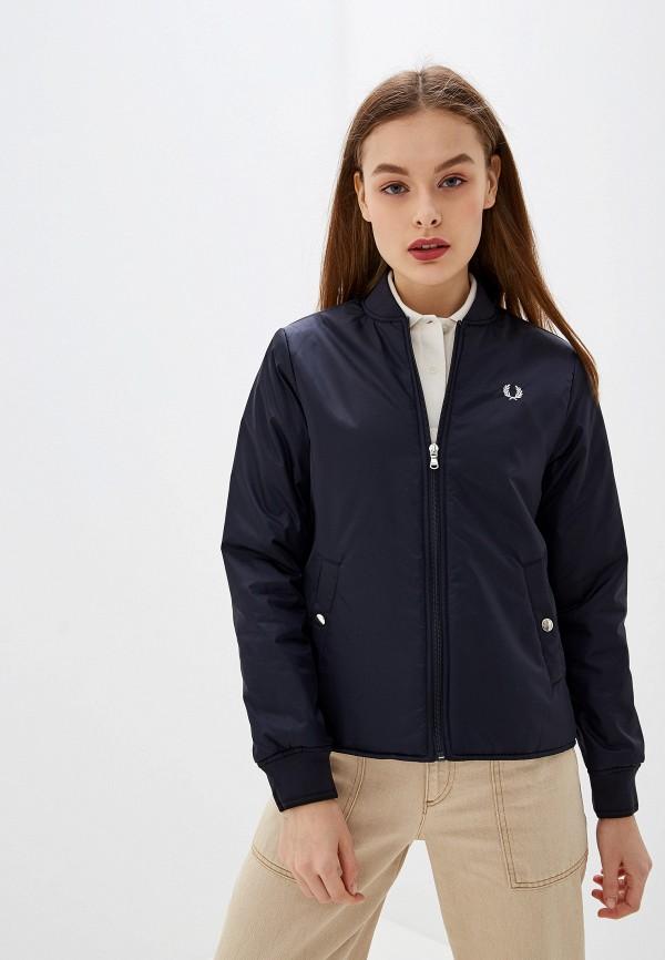 женская куртка fred perry, синяя