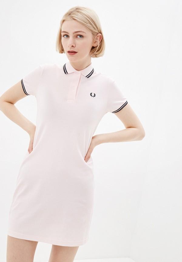 женское платье fred perry, розовое