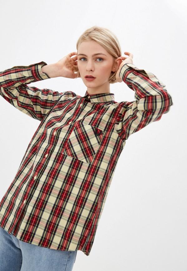женская рубашка с длинным рукавом fred perry, разноцветная
