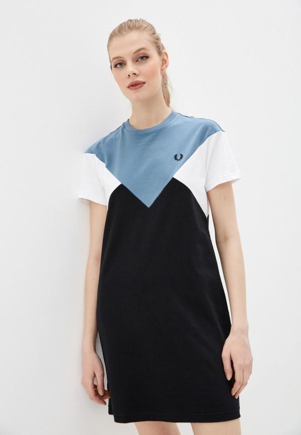 женское платье fred perry, разноцветное