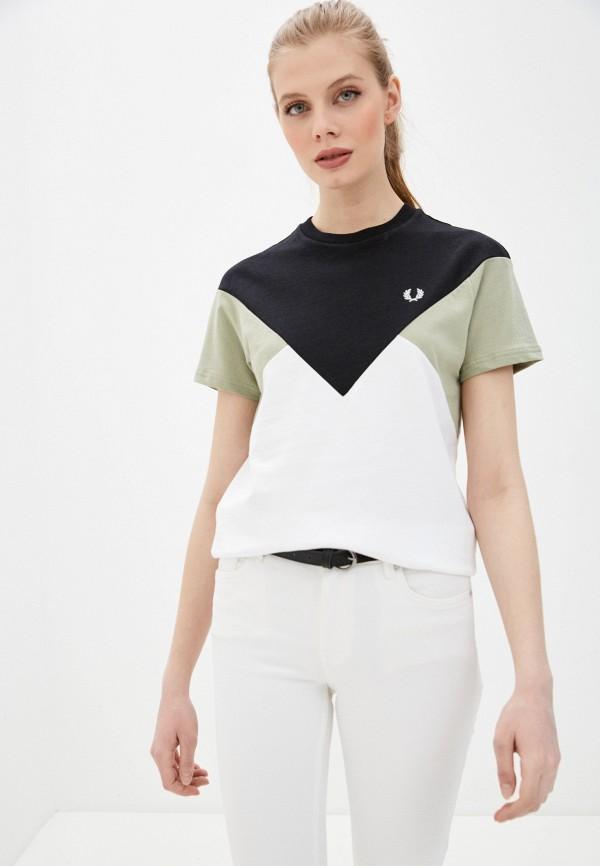 женская футболка fred perry, разноцветная