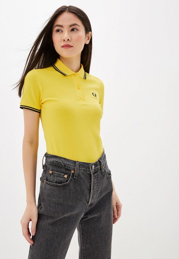 женское поло fred perry, желтое