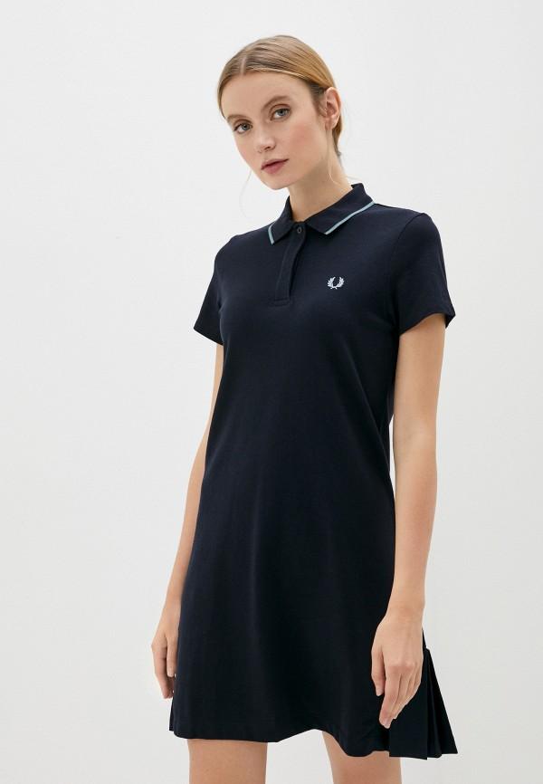 женское платье fred perry, синее